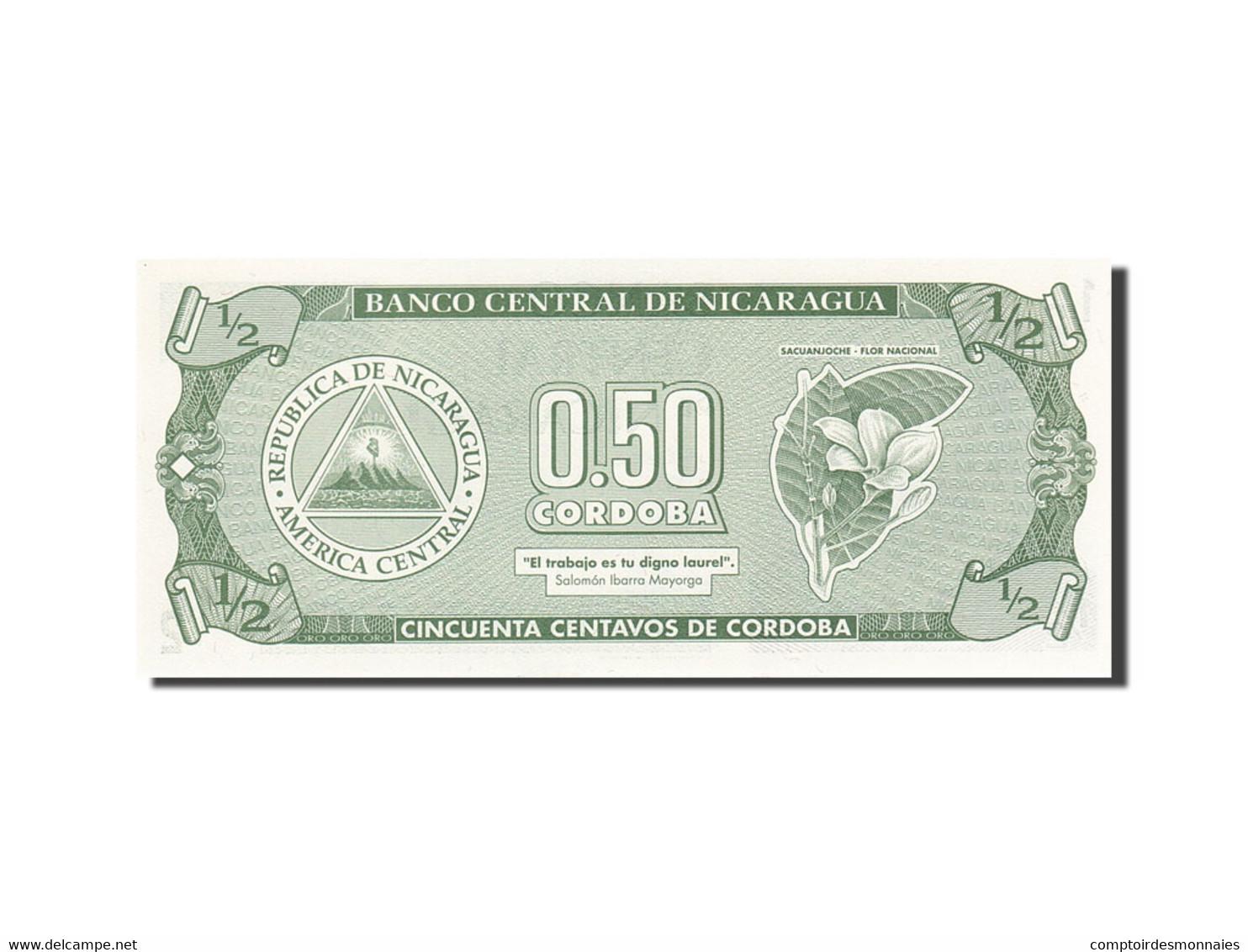 Nicaragua, 1/2 Cordoba, 1991-1992, Undated (1991), KM:171, SPL - Nicaragua