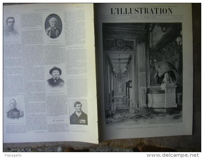 L'ILLUSTRATION 2977 INCENDIE DU THEATRE Français/ FORT CHABROL/ FAMINE INDES/ EXPOSITION  17 Mars 1900 - Journaux - Quotidiens
