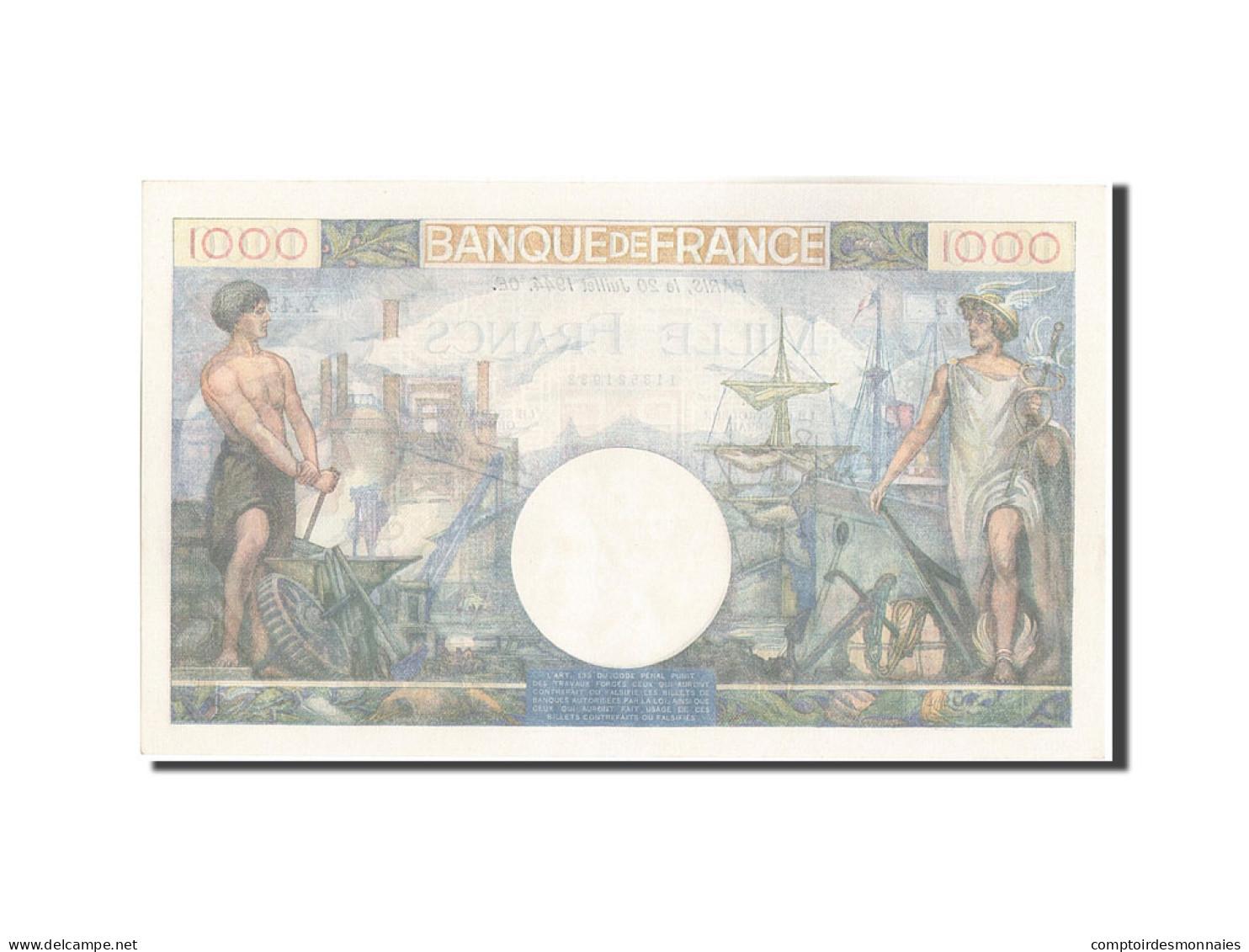 France, 1000 Francs, 1 000 F 1940-1944 ''Commerce Et Industrie'', 1944, 1944-... - 1871-1952 Anciens Francs Circulés Au XXème