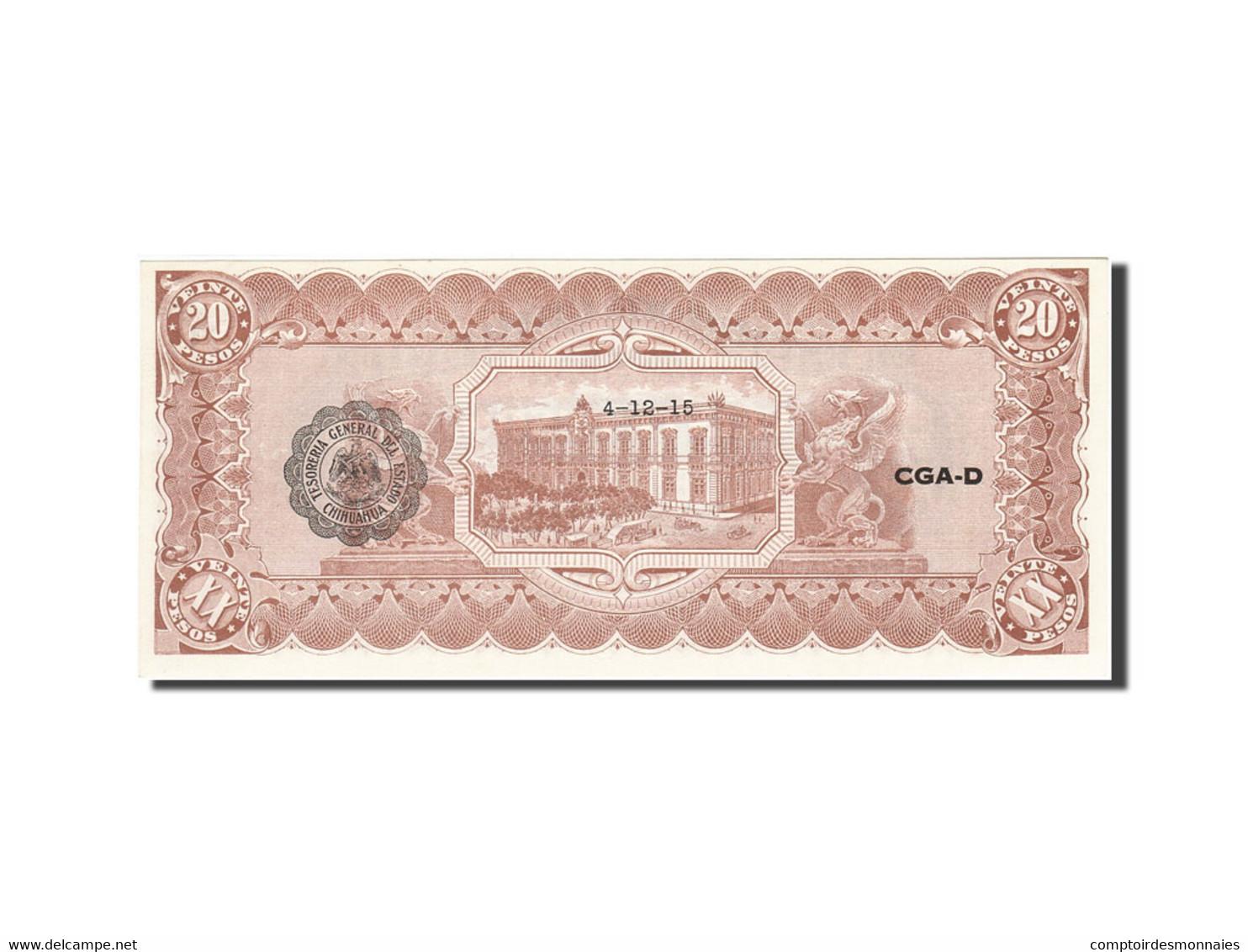 Mexico - Revolutionary, 20 Pesos, 1914, 1914-02-10, KM:S536b, SPL - Mexique