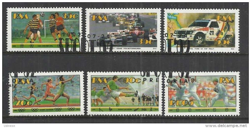SOUTH AFRICA 1992 - SPORTS - CPL. SET - USED OBLITERE GESTEMPELT USADO - South Africa (1961-...)