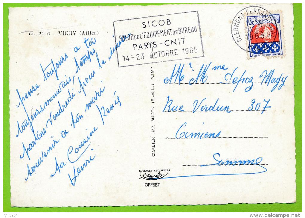VICHY - VILLE NAUTIQUE INTERNATIONALE Ski Nautique Ascensionnel Citroen DS Break HY Renault 4L Parisienne Peugeot 203 - Vichy