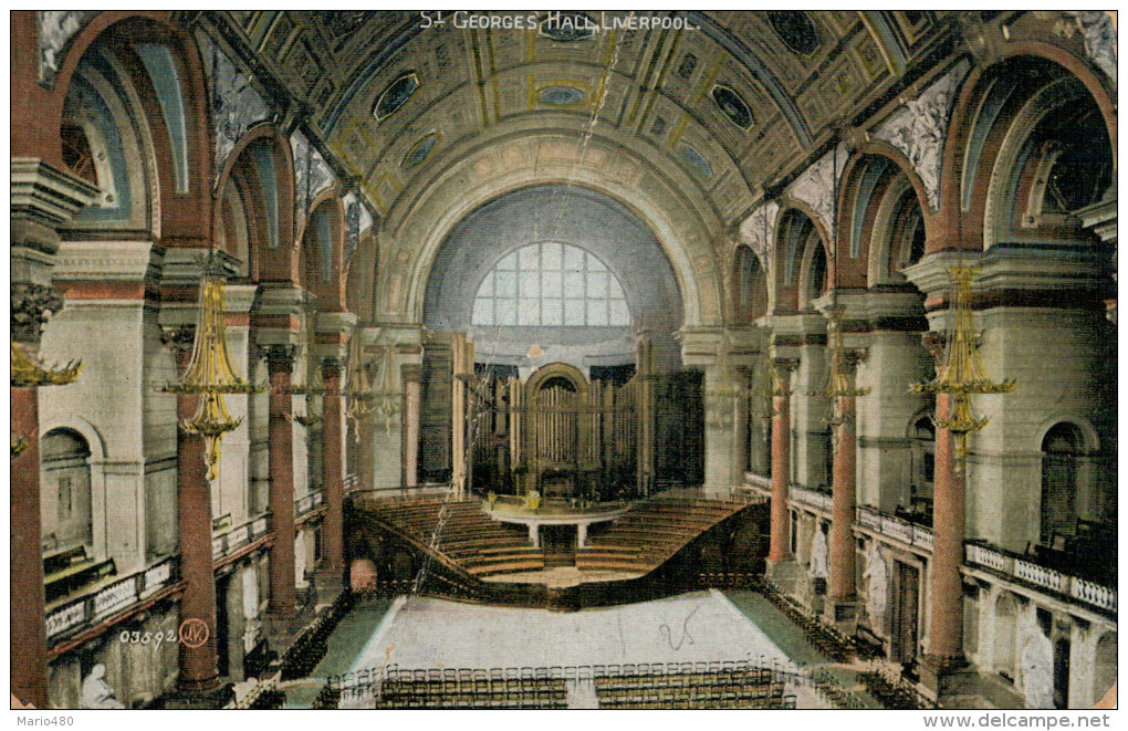 LIVERPOOL  ST. GEORGES HALL     (VIAGGIATA) - Liverpool