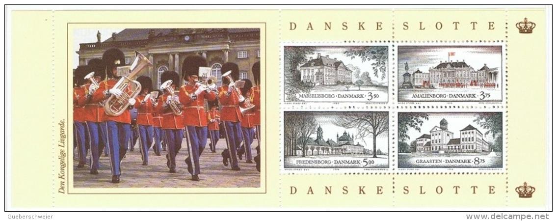 MUS-L48 - DANEMARK Carnet C1076 Châteaux Danois Avec Fanfare Militaire - Musique