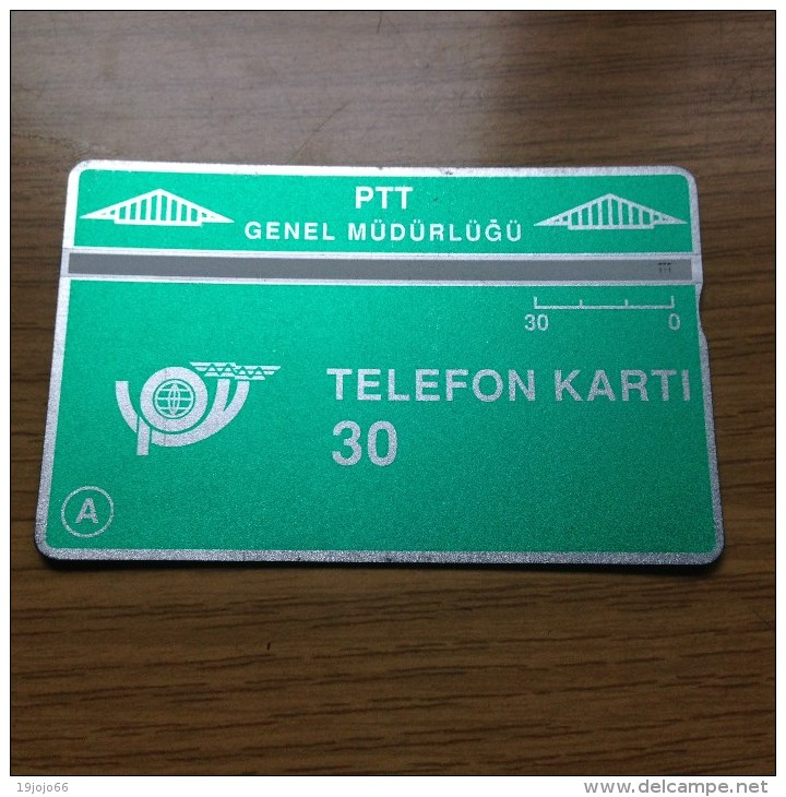L&G Card Turkey / Türkei 30 Units From 1990  - Fine Used - Nr. 001C - Türkei