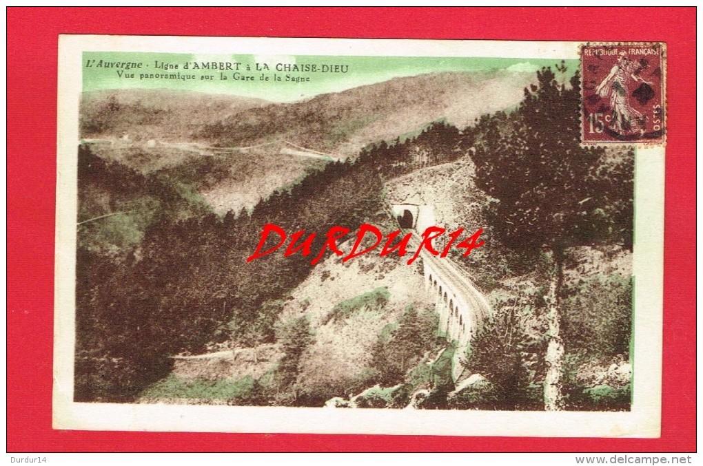 Puy-de-Dôme ... Ligne D'AMBERT à La CHAISE DIEU Vue Panoramique Sur La Gare De La Sagne - Other Municipalities