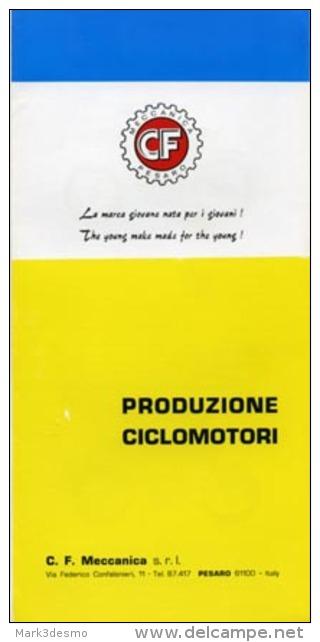 CF CICLOMOTORI PRODUZIONE 1969 Depliant Originale Genuine Motorcycle Factory Brochure Prospekt - Motorfietsen