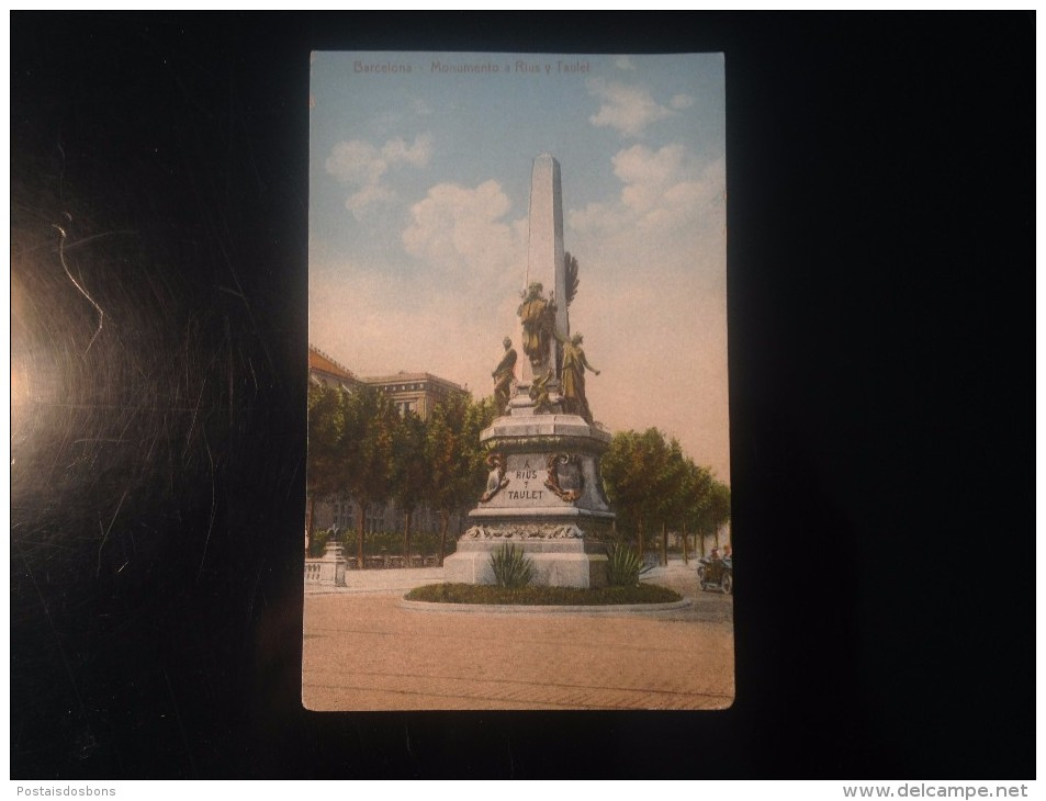 1758) España Spain Barcelona Monumento A Rius Y Taulet - Barcelona