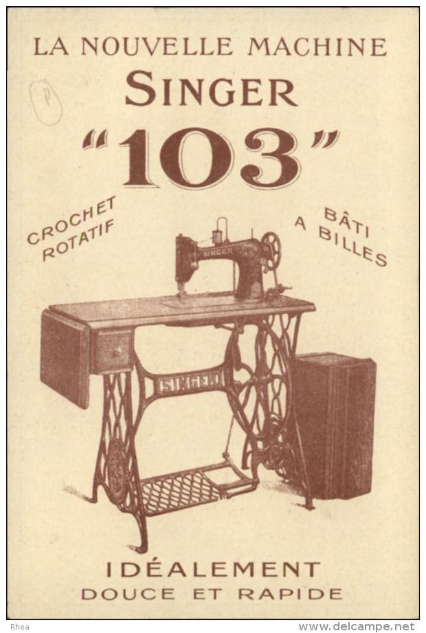 MACHINE A COUDRE - PUBLICITE SINGER - NANTES Rue Crébillon - TRES BELLE PUB - Publicités