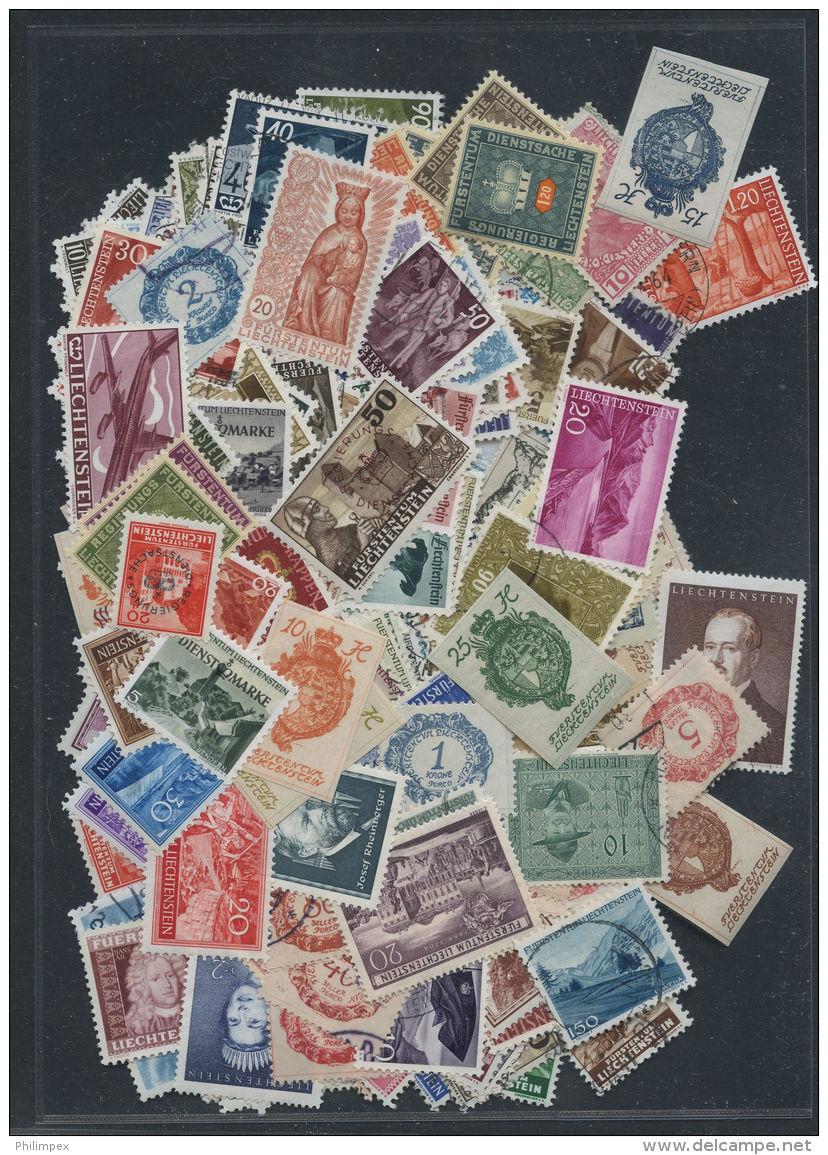 LIECHTENSTEIN, COLLECTION 250 DIFFERENT STAMPS FROM 1912 UNTIL 1960 - Liechtenstein