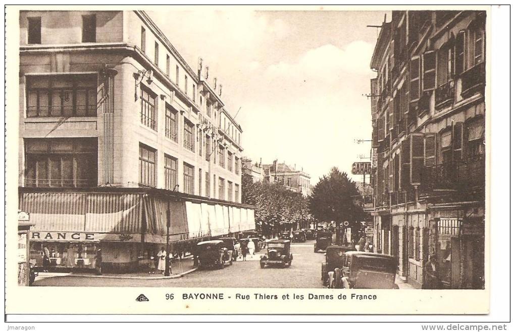 BAYONNE - Rue Thiers Et Les Dames De France - Cap 96 - Non Circulée - Tbe - Bayonne