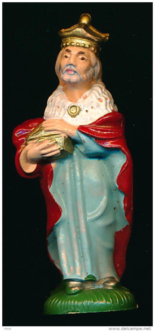 Santons, Noël, Nativité : Personnage Type Crèche Napolitaine, Numéro 6 Italy, Rois Mages - Santons