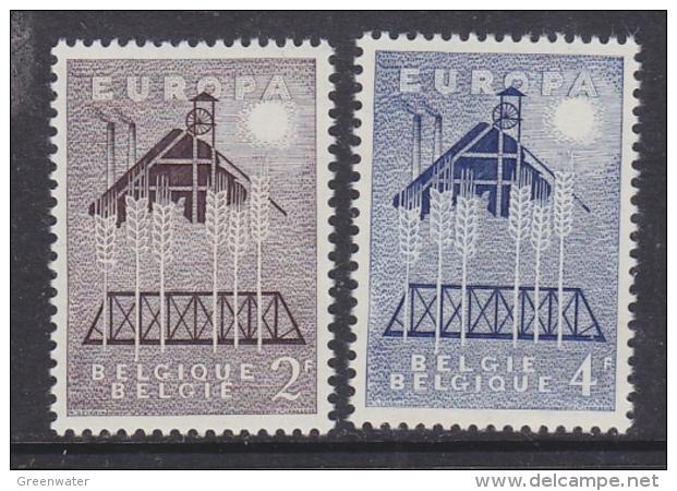 Europa Cept 1957 Belgium 2v ** Mnh (31994) - 1957