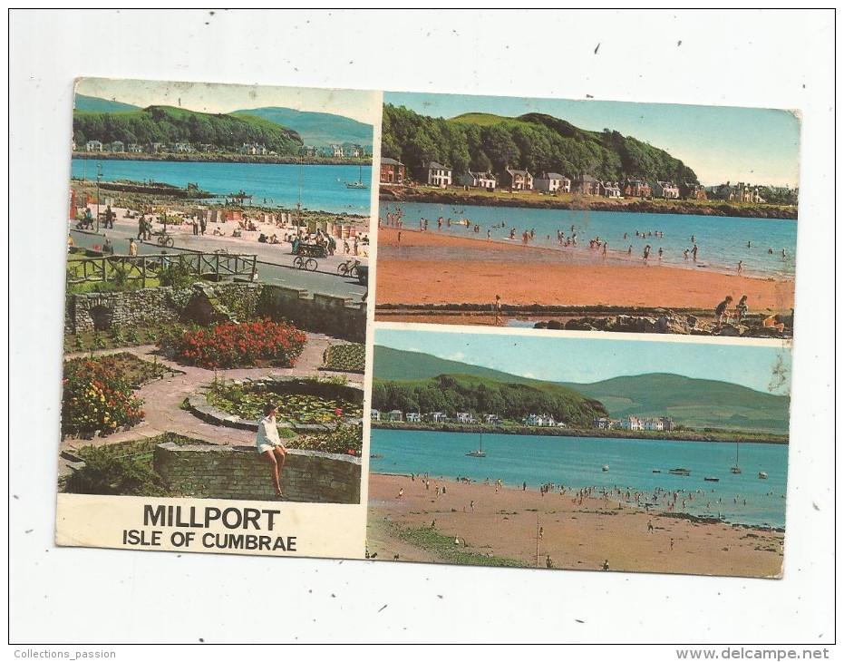 Cp , ECOSSE , AYRSHIRE , MILLPORT , ISLE OF CUMBRAE , Multi Vues , Voyagée 1974 , Ed : White - Ayrshire