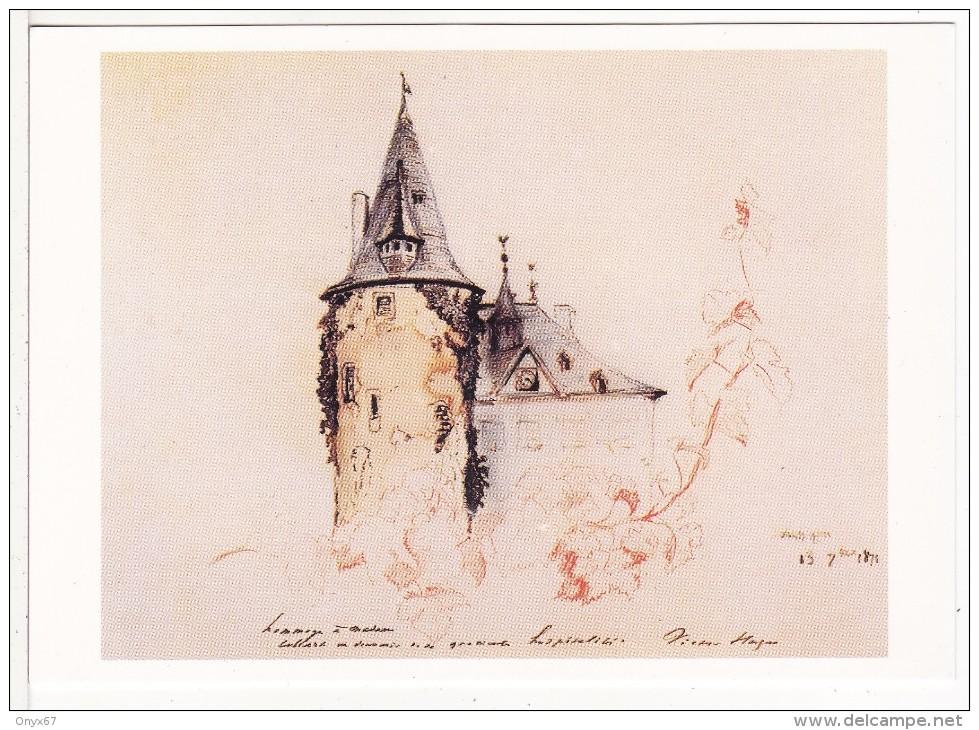 SCHENGEN (Luxembourg)  Château Ou Séjourna Victor Hugo Curiste à Mondorf Les Bains-Dessin-Musée VIANDEN VOIR 2 SCANS - - Cartes Postales
