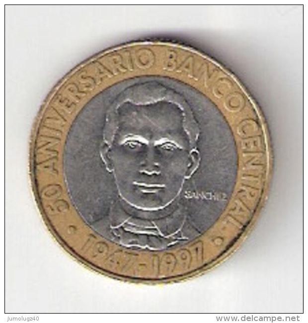 Pièce Dominicaine (Rép). 5 Pésos. 1997 - Dominicaine