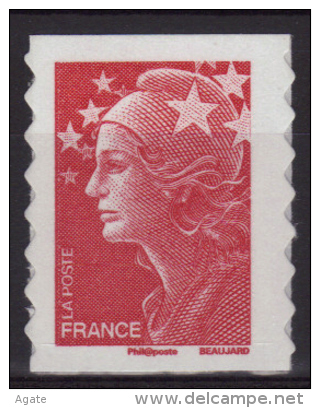 Adhésif 175 (4197) Marianne Beaujard TVP Rouge - Timbre De Carnet Neuf** - 2008-13 Marianna Di Beaujard