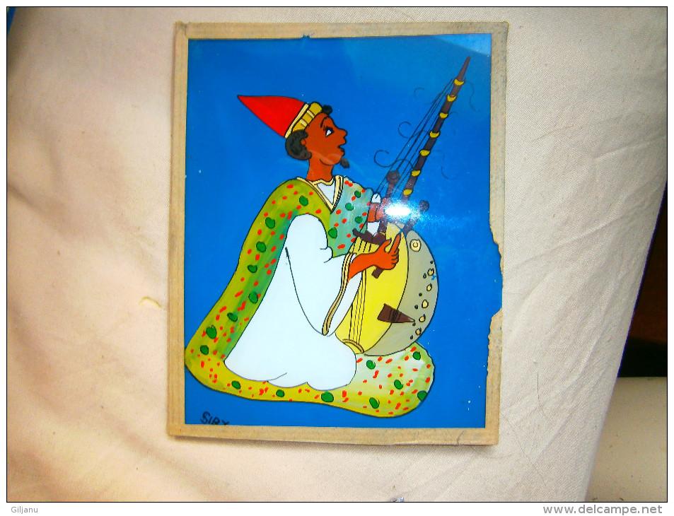 PEINTURE AFRICAINE SUR VERRE DIM 15,5 X 12,5 - African Art