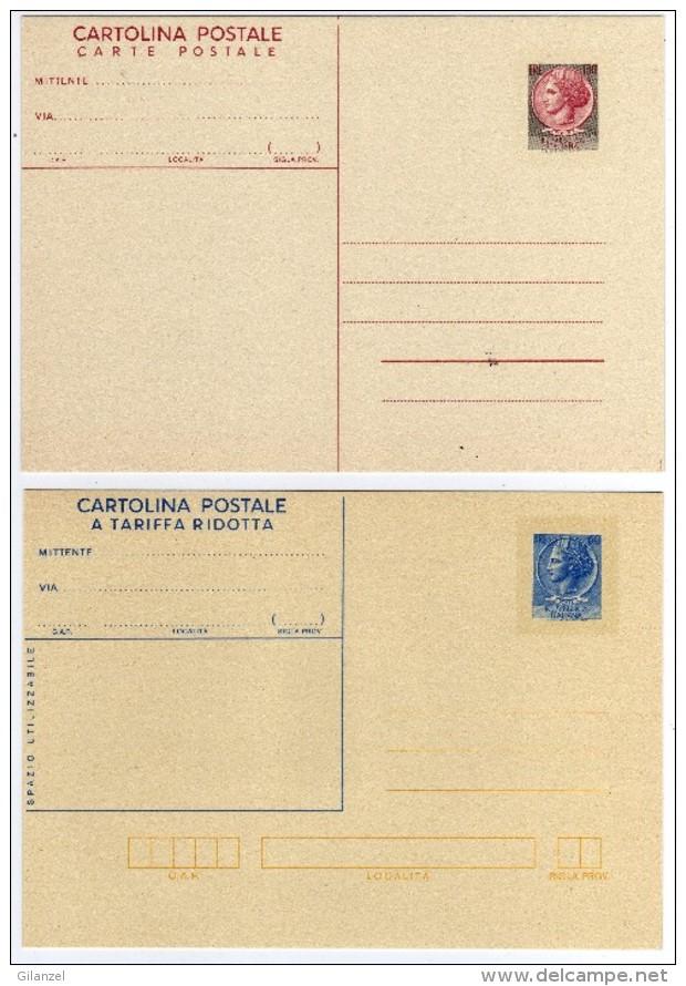 Italia 1977 N. 2 Cartoline Postali Nuove Siracusana - 6. 1946-.. Repubblica