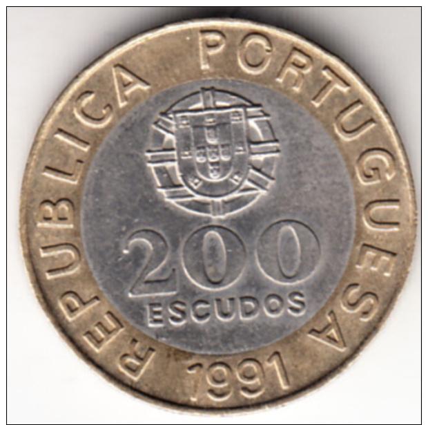 PORTUGAL 1991    200  ESCUDOS. GARCIA DE ORTA    EBC   CN7012 - Portugal