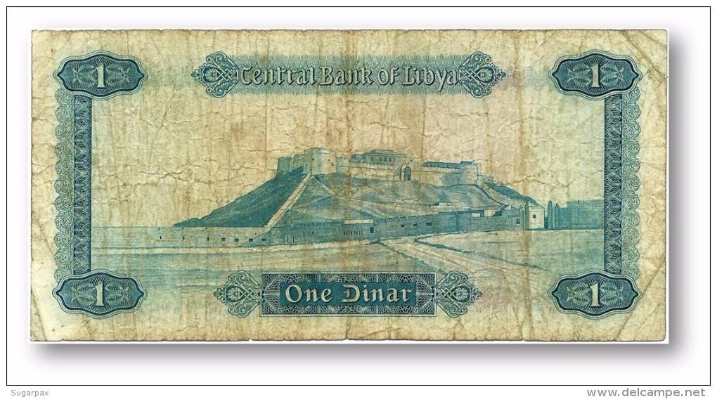 LIBYA - 1 Dinar - (1972 ) - P 35.b - Sign. 1 - Serie I ( 170 X 85 ) Mm - 3 Scans - Libye
