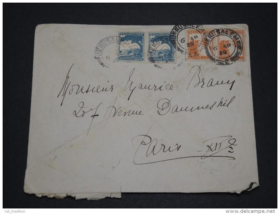 PALESTINE - Enveloppe Pour La France En 1929 - A Voir - L 1846 - Palestine