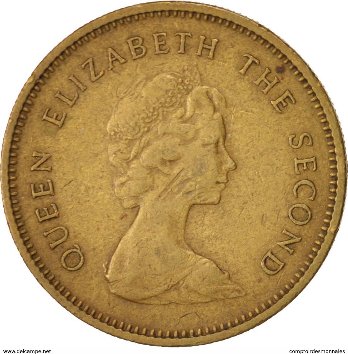 Hong Kong, Elizabeth II, 50 Cents, 1978, TB+, Nickel-brass, KM:41 - Hong Kong