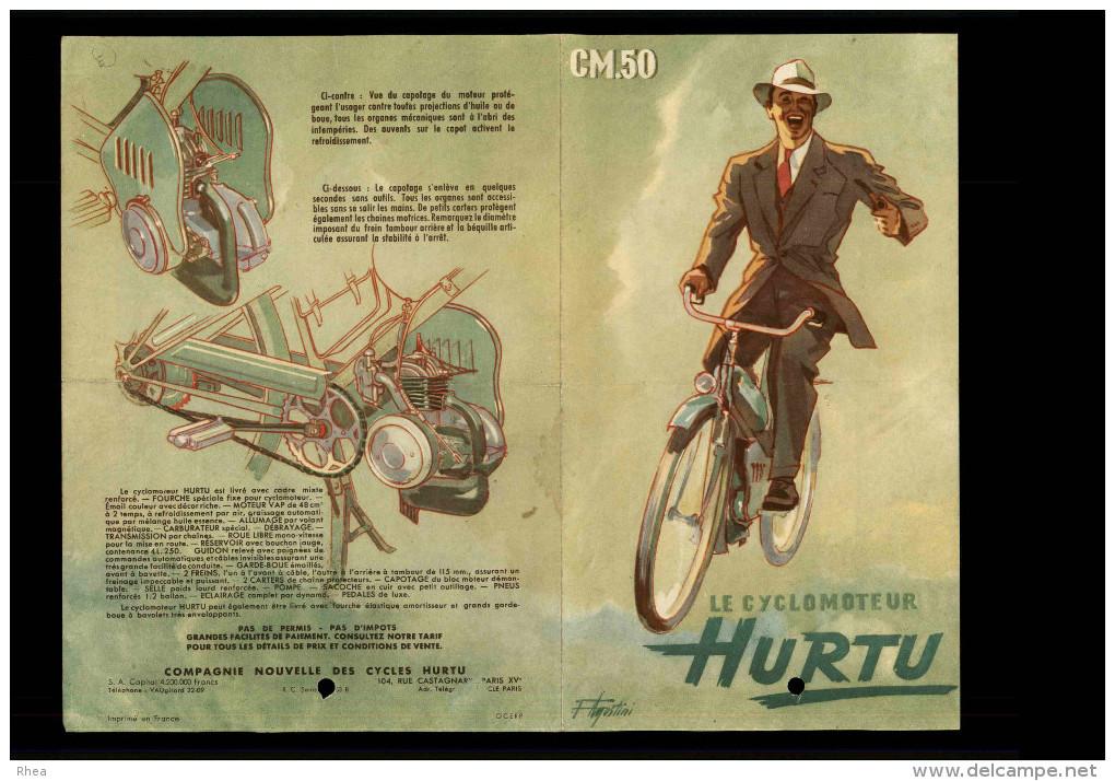 CYCLOMOTEUR - PUBLICITE CYCLES HURTU - Publicités