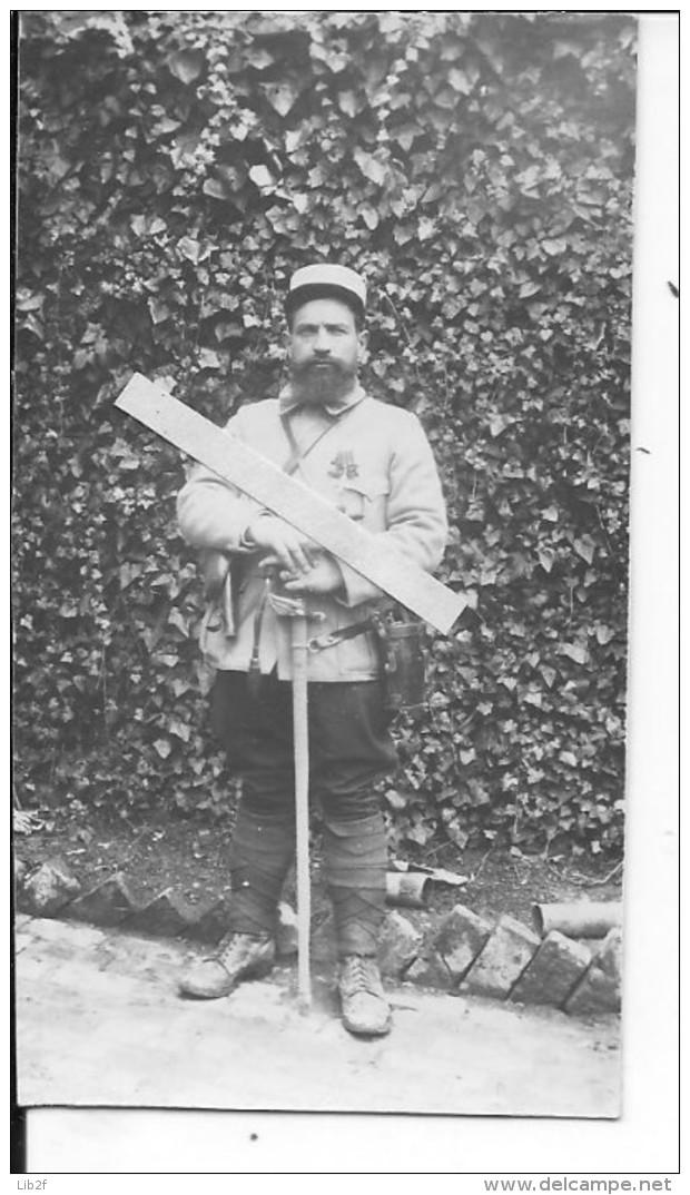 Somme 1914-1915 Officier Du 53è Rgt.d'artillerie Revolver Et Sabre Recrutement Clermont-ferrand 1 Photo 1914-1918 Ww1 - War, Military
