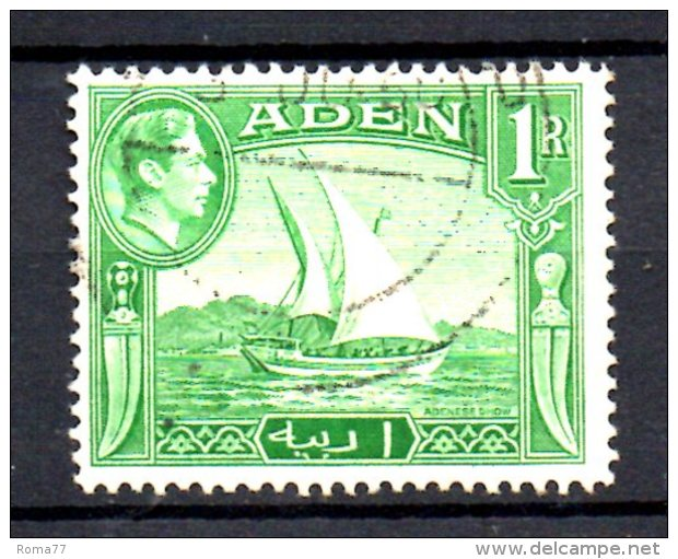 T388 - ADEN ,  Yvert N. 24 Usato - Aden (1854-1963)