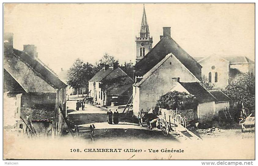 -ref- L718 - Allier - Chamberat - Vue Generale - Carte Bon Etat - - Other Municipalities