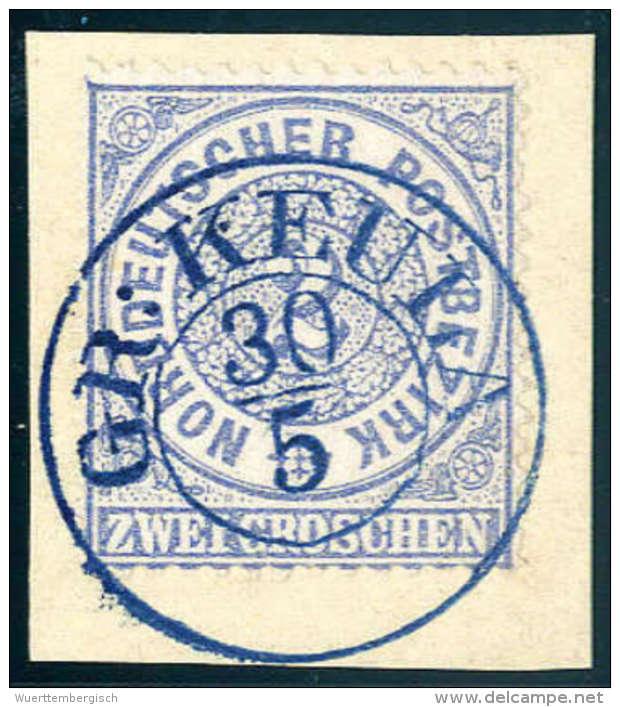 Briefst. 2 Gr., Wundervolles Luxus-Bfstk. Mit Leuchtend Blauem K2 GR. KEULA. (Michel: 17) - Stamps