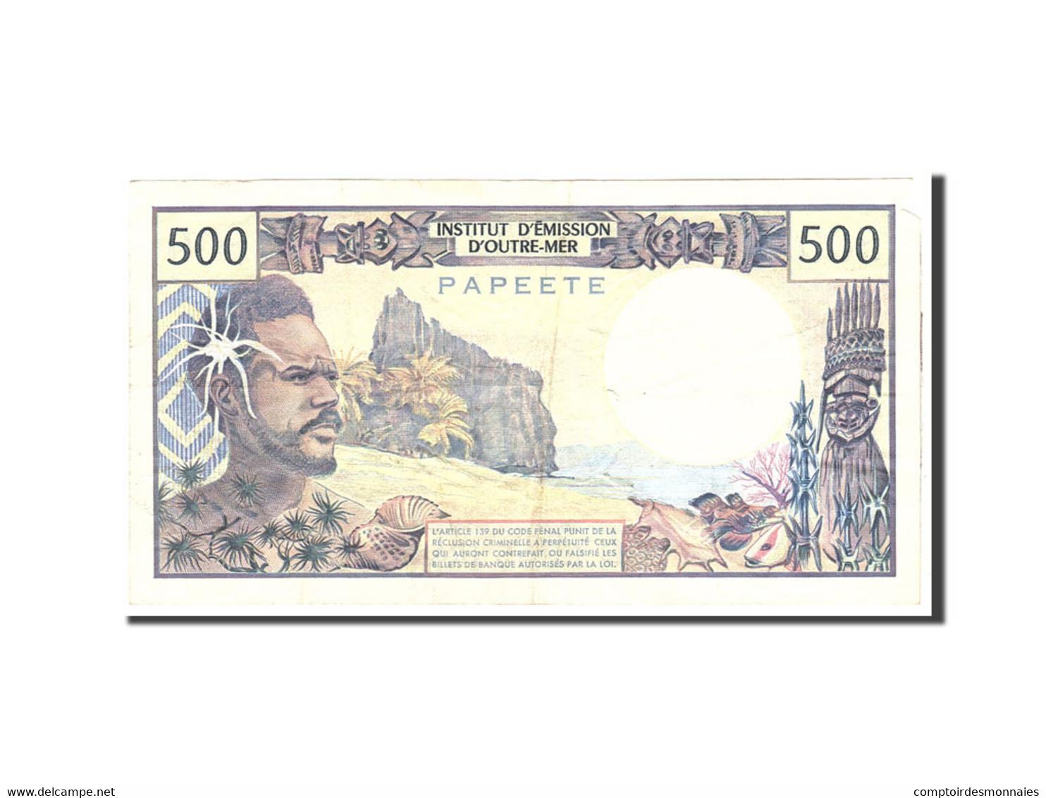 Tahiti, 500 Francs, 1970, Undated, KM:25d, TB - Papeete (Polynésie Française 1914-1985)
