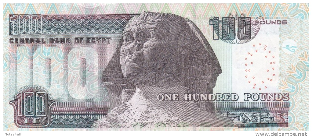 EGYPT 100 POUNDS EGP 2015 P-72b SIG/ T.AMER #24 Convergent (close) UNC */* - Egypt