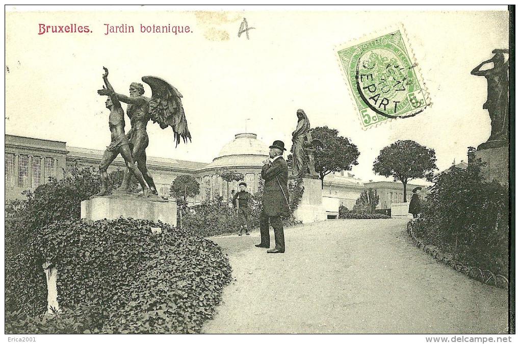 """Autres. La Statue """"Le Temps"""" De Charles Van Der Stappen Au Jardin Botanique De Bruxelles. - Andere"""