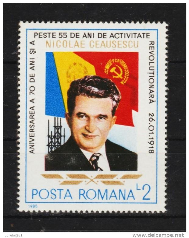 1988 - CEAUSESCU  Mi No 4438 - 1948-.... Republiken
