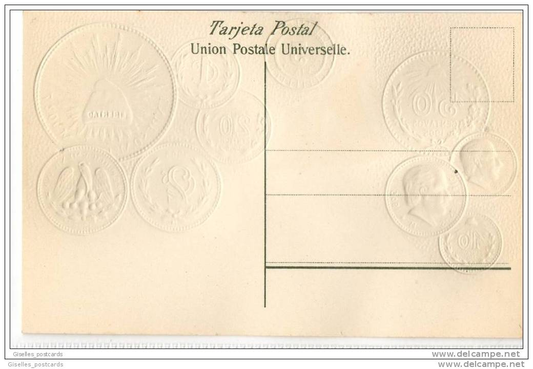 Republica Mexicana - Mexico - Embossed Coins - Coins (pictures)