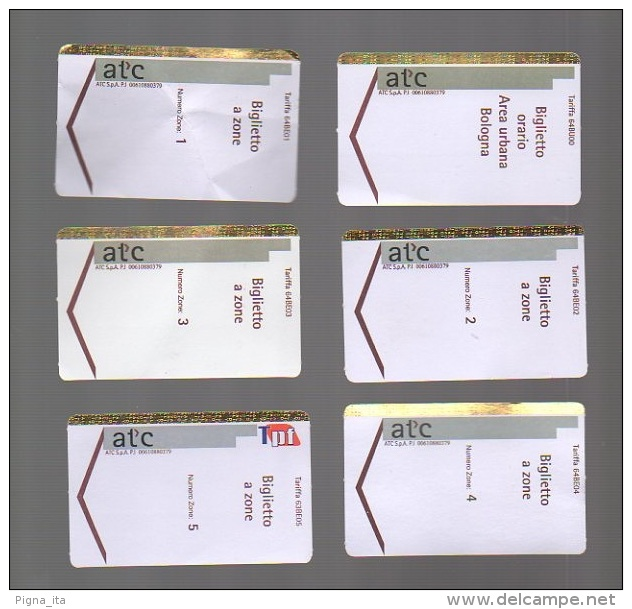 Metro Ticket BOLOGNA 6 Different Tickets - Italy - Subway