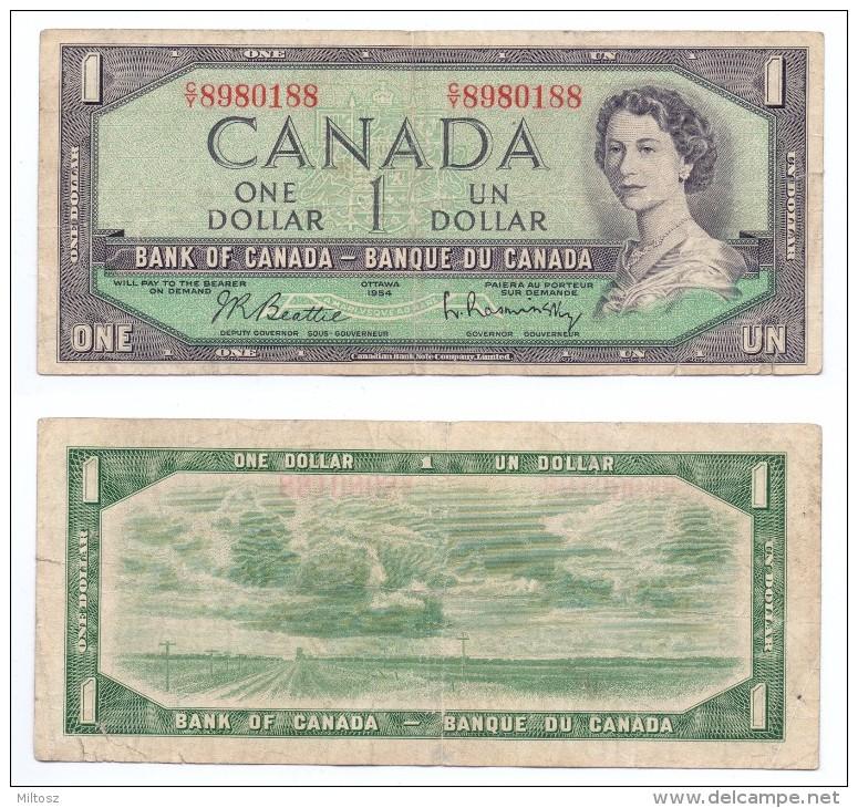 Canada 1 Dollar 1954 (KM#74.b) - Canada