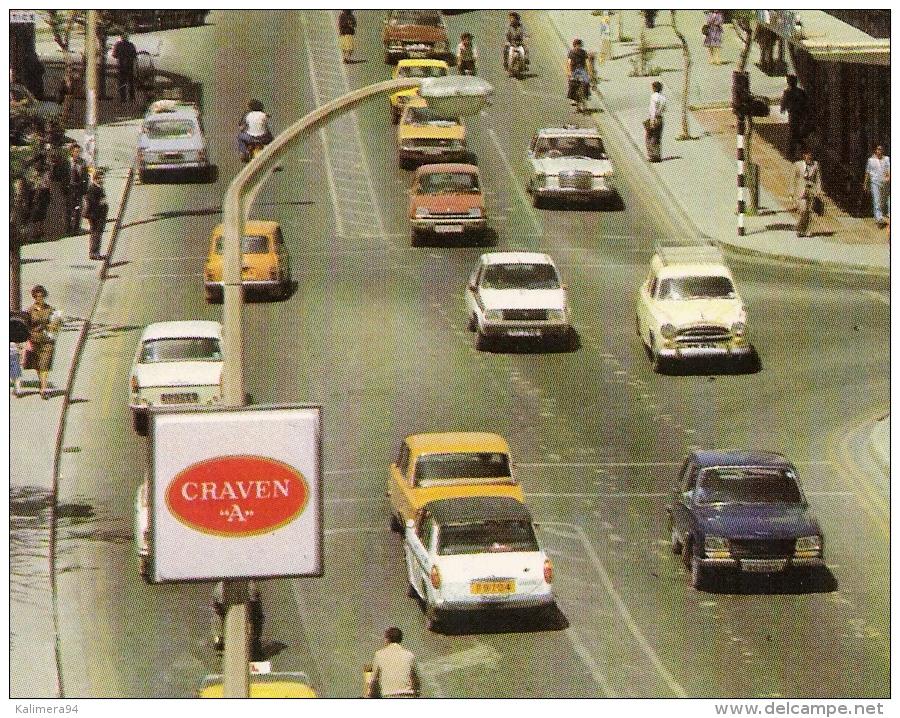 "CHYPRE  /  NICOSIA  /  MAKARIOS  III  AVENUE   (  Automobiles Années 70 + Publicité "" Cigarettes  CRAVEN  A "" ) - Chypre"