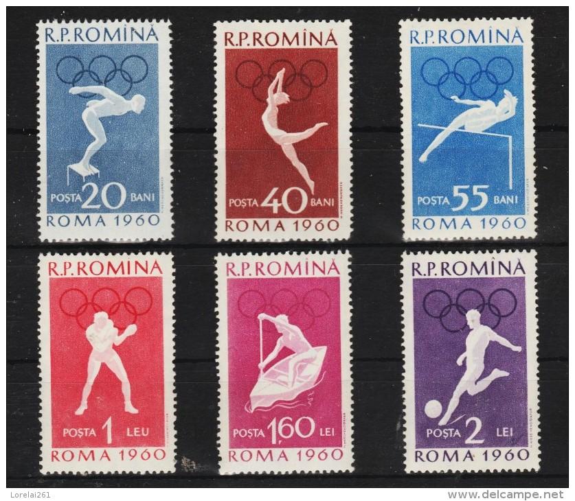1960 -  Jeux Olympiques ROMA(2) Mi No 1847/1852 Et Yv No 1720/1725 MH Avec Charniere - 1948-.... Republiken