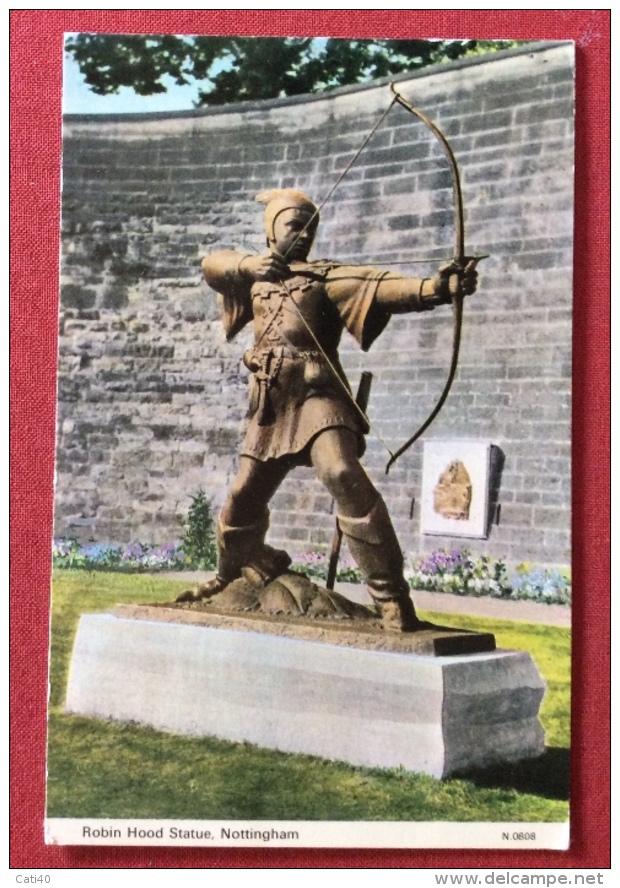 TIRO CON L´ARCO MONUMENTO A ROBIN HOOD STATUA NOTTINGHAM VIAGGIATA - Tir à L'Arc