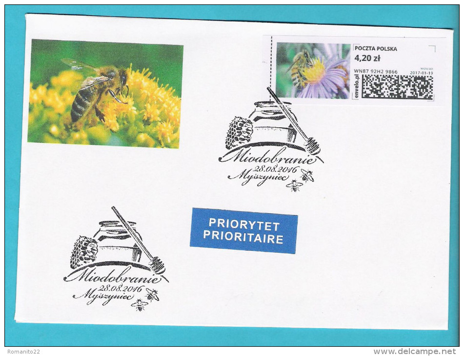 Poland 2016 AUGUST, Cover, Bees Apiculture Abeilles Beekeeper Apiculteur Honey Miel  Beehive Ruche - Abeilles