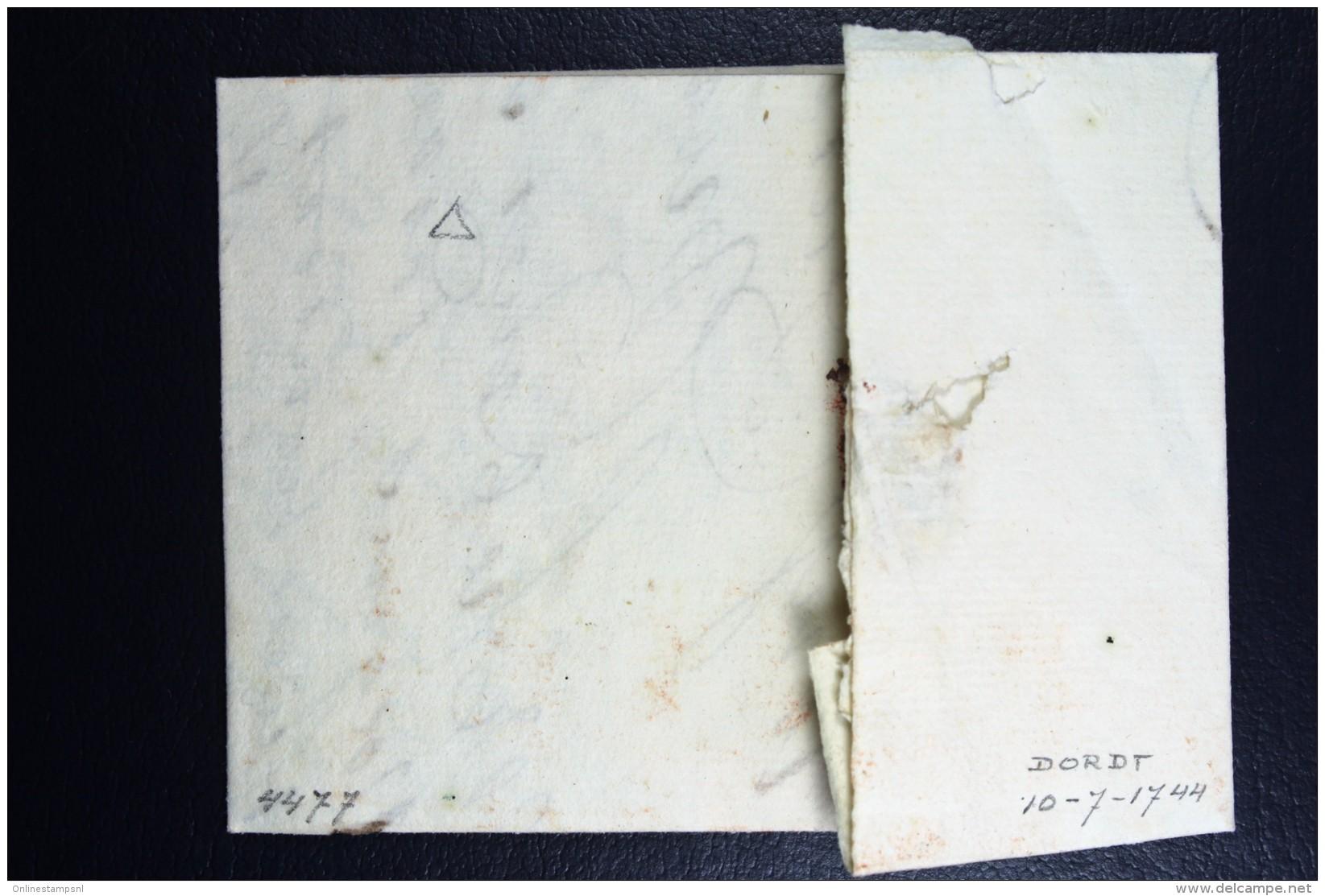 Complete Letter 1744  Dordrecht  To Bruxelles - Niederlande