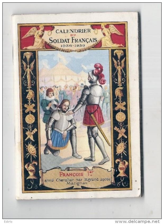 CALENDRIER DU SOLDAT FRANCAIS 1936 / 1938 Calendrier Agenda De 66 Pages 12cmX8cm Militaria TTB - Calendriers