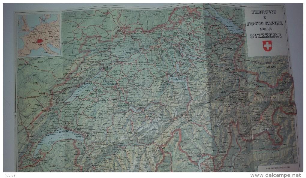 BU99    Ferrovie E Poste Alpine Svizzere - Mappa Turistica Della Svizzera - Carte Geographique