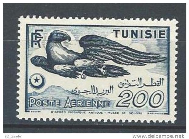 """Tunisie Aerien YT 13 (PA) """" Aigle """" 1949 Neuf* - Tunisia (1888-1955)"""