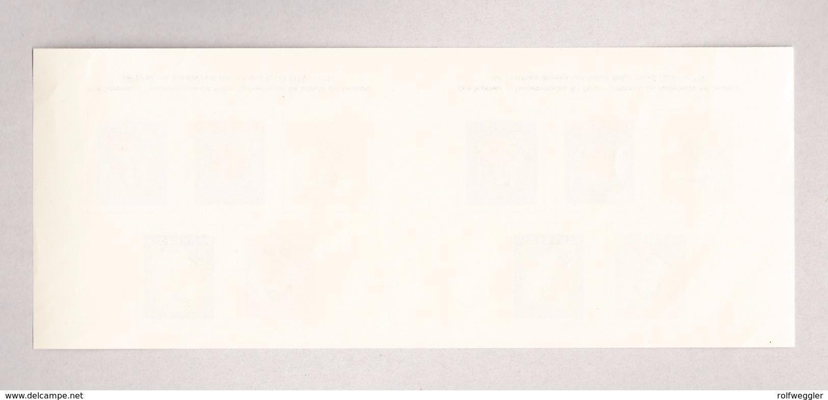 """Nicaragua 1956 """"Pfadfinder"""" Block Mi#43 Ungetrenntes Block Paar (selten) Aus Drückerei Archiv - Nicaragua"""