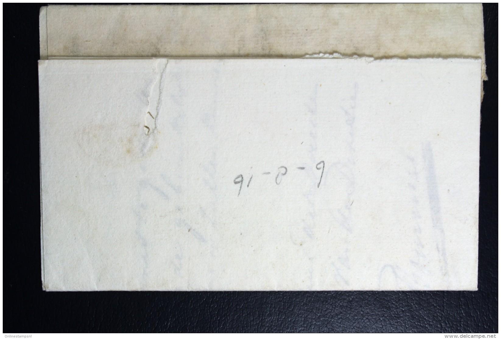 Complete Brief 1816 Zwolle (gekapt)naar Staphorst - Niederlande