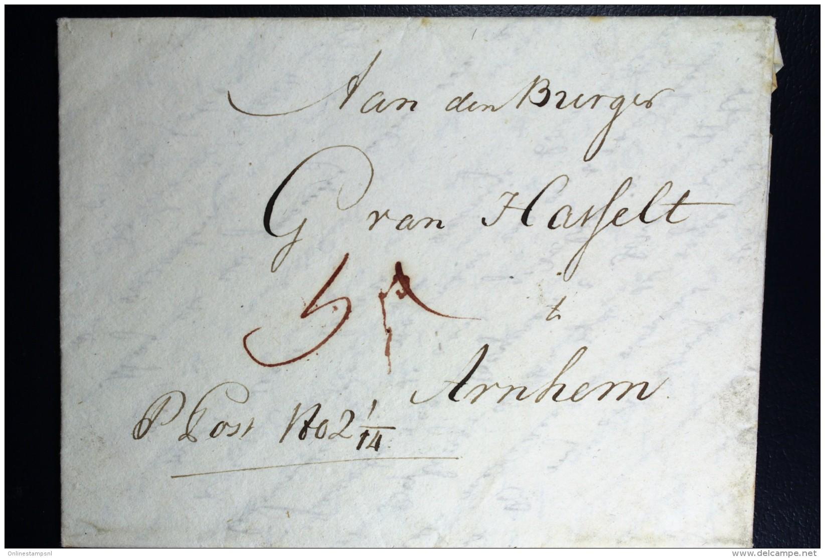 Komplete Brief 1799  Van Haarlem  Cursief Aan Den Burger .. Te Arnhem - ...-1852 Voorlopers